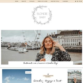 Blondie Baby - Blog mode Paris, Lifestyle, Voyages
