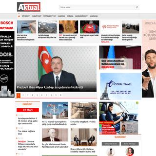 Aktual.az - Azərbaycandan və dünyadan aktual xəbərlər