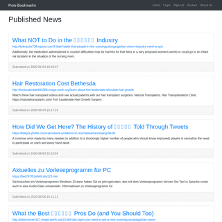 Published News - Pure Bookmarks