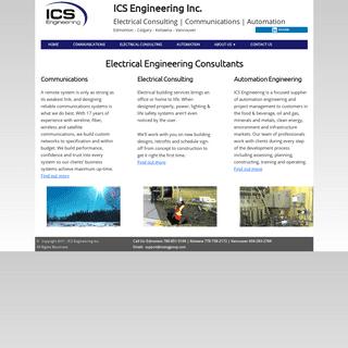 ICS Engineering Inc. - Electrical Engineering Consultants - Electrical Consulting Engineers - Electrical Engineers
