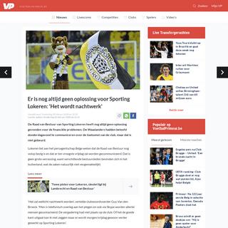 ArchiveBay.com - www.voetbalprimeur.be/nieuws/917593/er-is-nog-altijd-geen-oplossing-voor-sporting-lokeren-het-wordt-nachtwerk-.html - Er is nog altijd geen oplossing voor Sporting Lokeren- 'Het wordt nachtwerk' - Voetbalprimeur