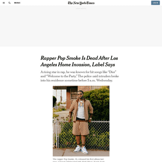 ArchiveBay.com - www.nytimes.com/2020/02/19/arts/music/pop-smoke-dead.html - Rapper Pop Smoke Dead After Los Angeles Home Invasion - The New York Times