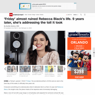 Rebecca Black shares advice on bullying and self-love on single's 9th anniversary - CNN
