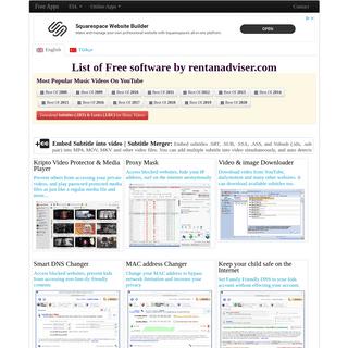 List of Free software by rentanadviser.com