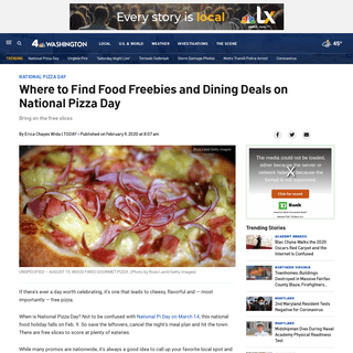 Where to Find Food Freebies and Dining Deals on National Pizza Day – NBC4 Washington