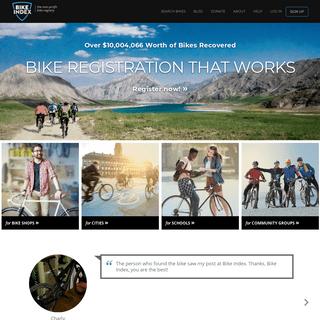 Bike Index - Bike registration that works