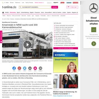 Coronavirus in Deutschland- Krisenstab in NRW sucht rund 300 Karnevalsbesucher