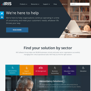 IRIS Software & Solutions for mission-critical business tasks