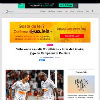 ArchiveBay.com - observatoriodatv.bol.uol.com.br/noticias/2020/02/saiba-onde-assistir-corinthians-x-inter-de-limeira-jogo-do-campeonato-paulista - Campeonato Paulista- Saiba onde assistir Corinthians x Inter de Limeira