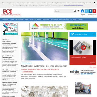 PCI Magazine - Solutions for coatings formulators and manufacturers
