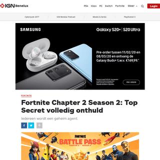 Fortnite Chapter 2 Season 2- Top Secret volledig onthuld