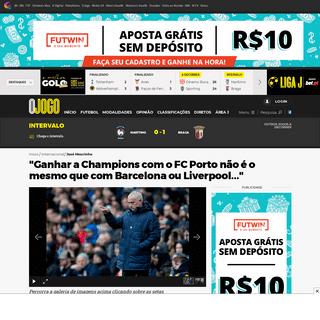 ″Ganhar a Champions com o FC Porto não é o mesmo que com Barcelona ou Liverpool...″ - O Jogo