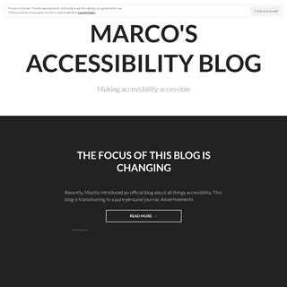 Marco's Accessibility Blog – Making accessibility accessible