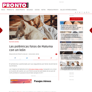 ArchiveBay.com - www.pronto.com.ar/articulo/famosos/polemicas-fotos-maluma-leon/20200218085624351038.html - Las polémicas fotos de Maluma con un león