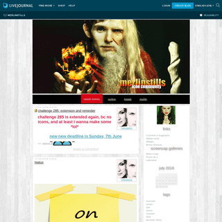 A Merlin BBC Icontest of Awesome — LiveJournal