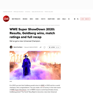 WWE Super ShowDown 2020- Results, Goldberg wins, match ratings and full recap - CNET
