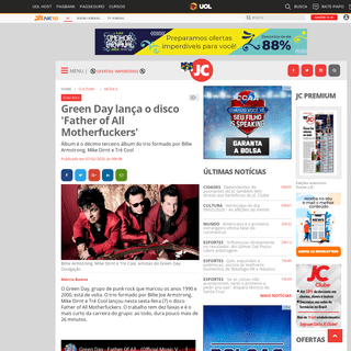 Green Day lança o disco 'Father of All Motherfuckers' - Jornal do Commercio