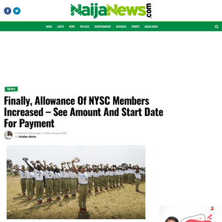 Finally, Allowance Of NYSC Members Increased - See Amount And Start Date For Payment - Naija News