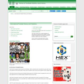 International Football History and Statistics - 11v11