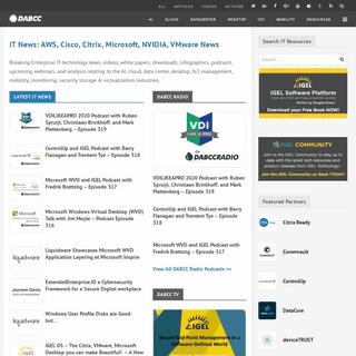 ArchiveBay.com - dabcc.com - IT News- AWS, Cisco, Citrix, Microsoft, NVIDIA, VMware News & Support