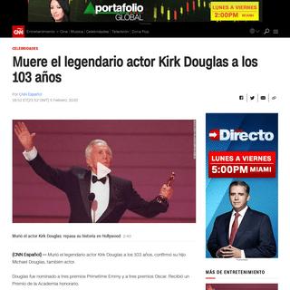 Muere el legendario actor Kirk Douglas a los 103 años - CNN