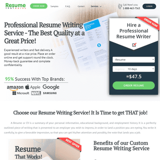 Resume That Works- Online Resume Writing Services in USA