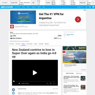 Recent Match Report - New Zealand vs India 4th T20I 2020 - ESPNcricinfo.com