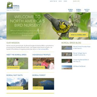 Bird Conservation - Boreal Songbird Initiative