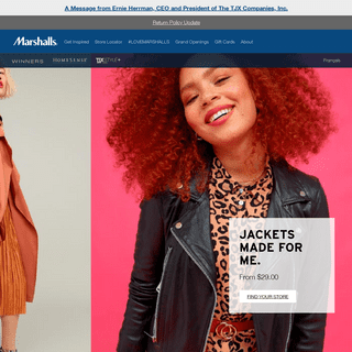 Surprising savings on Fashion, Footwear and Home Décor - Marshalls Canada