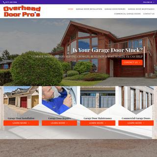 Garage Door Company- Installation & Repairs - Crowley & Burleson, TX - Overhead Door Pros