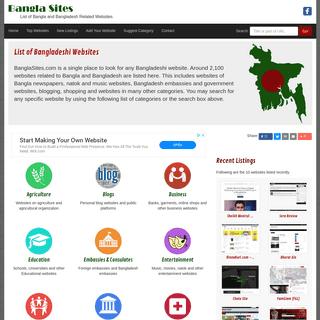 Bangla Sites - List of All Bangla and Bangladesh Related Websites
