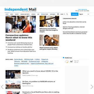 Anderson News, Sports, Weather, Business - Independent Mail