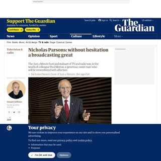 ArchiveBay.com - www.theguardian.com/tv-and-radio/2020/jan/28/nicholas-parsons-broadcasting-great - Nicholas Parsons- without hesitation a broadcasting great - Television & radio - The Guardian