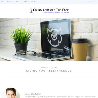 Giving Yourself The Edge - A Self Enrichment & Life Improvement Blog