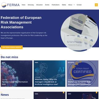 Home - Federation of European Risk Management Associations – FERMA