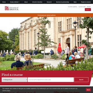 Homepage - University of Bristol