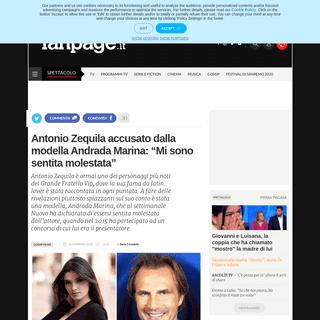 Antonio Zequila accusato dalla modella Andrada Marina- Mi sono sentita molestata