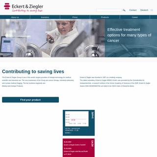 Eckert & Ziegler Strahlen- und Medizintechnik AG- Home_ezag