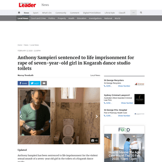 ArchiveBay.com - www.theleader.com.au/story/6626304/every-parents-worst-nightmare-sampieri-jailed-for-life/ - Anthony Sampieri sentenced to life imprisonment for rape of seven-year-old girl in Kogarah dance studio toilets - St George & Su
