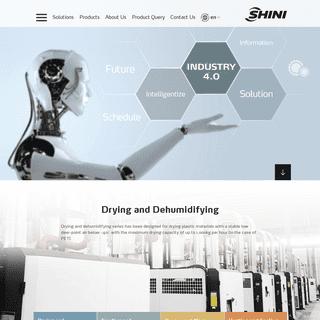 Hopper Dryer -SHINI PLASTICS- Hopper Loader, Granulator, Mould Temperature Controller, Volumetric Doser, Gravimetric Blender, Ma