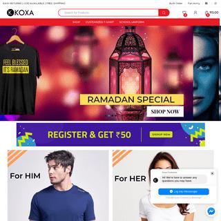 Koxa Costumes – Online Shopping - T-Shirt - School Uniform