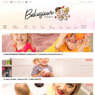 Bakusiowo.pl - Najpopularniejszy Blog Parentingowy w Polsce