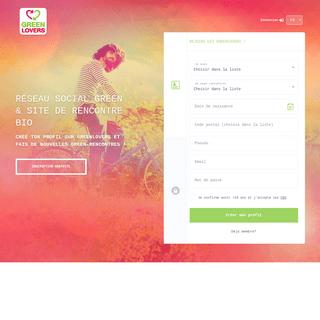 GreenLovers - Réseau Social Green et Site de Rencontre Bio