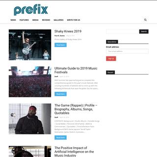 Homepage - Prefixmag.com