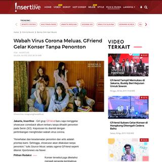 Wabah Virus Corona Meluas, GFriend Gelar Konser Tanpa Penonton