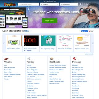 India Classifieds, India Free Classifieds, India Online Classifieds - Doplim