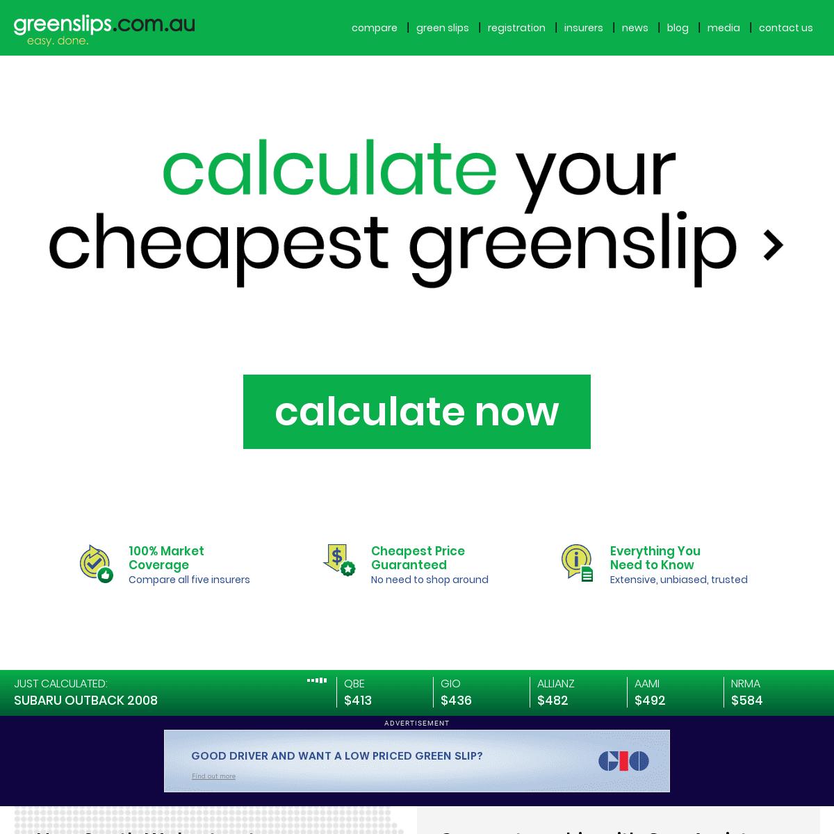 Green Slip NSW - Greenslip - CTP Insurance - greenslips.com.au