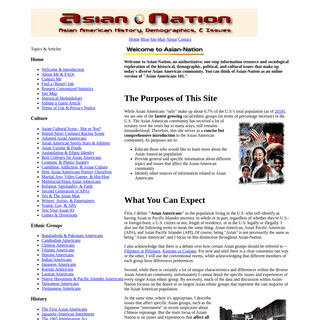 Asian-Nation - Asian American History, Demographics, & Issues