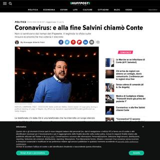 Coronavirus- e alla fine Salvini chiamò Conte - L'HuffPost
