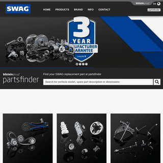 Automotive Aftermarket Spare Parts for passenger Cars - SWAG